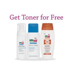Buy Sun Lotion + Foam & get Toner for Free